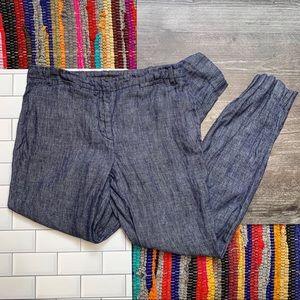 Zara Chambray Jogger Style Pants